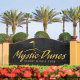 Beautifully Designed Logo Sign at the Mystic Dunes Resort in Orlando, Florida.