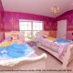 Princess Themed Bedroom at Best Western Lakeside Hotel in Orlando, Florida.