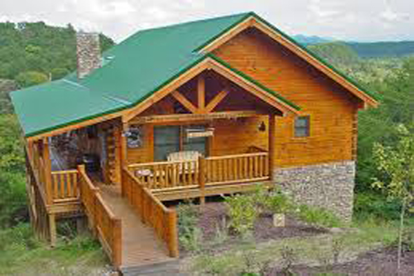 355 pigeon forge 5 day 4 night package 2 bedroom cabin for Eagles ridge log cabin