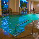 This is a picture of the indoor pool at the James Manor Hotel in Pigeon Forge Tennessee.