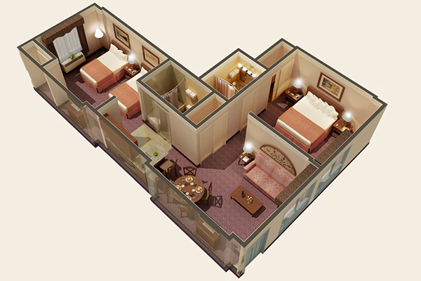 Quality Suites Royal Parc 2 Bedroom Floor Plan
