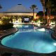 Night Indoor Pool View at the Radisson Worldgate Resort in Orlando, Florida.