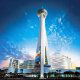 Observation Tower of The Stratosphere Casino, Hotel &amp; Tower in Las Vegas, Nevada. Affordable Vegas vacation packages now available at Rooms101.com.