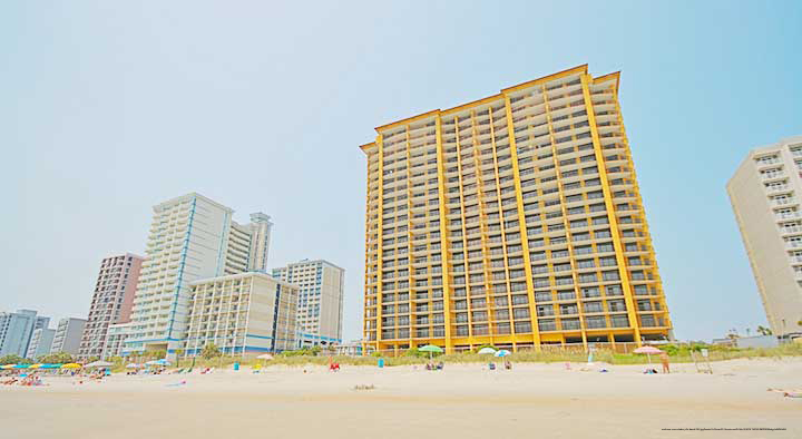 View from the beach of the anderson ocean club and spa in - 4 bedroom resorts in myrtle beach sc ...