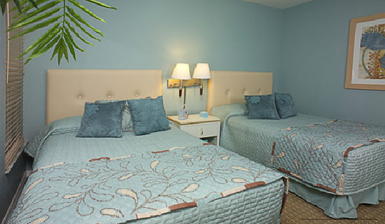 bedroom with double beds at the star island resort in orlando florida