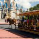 Horse drawn carriage in Disney's Magic Kingdom in Orlando.