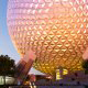 Planet Earth is the icon for Disney's Epcot theme park in Orlando, Florida.