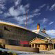 The mighty Titanic is recreated to scale and is visible from outside the Titanic Museum in Pigeon Forge, Tennessee