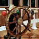 Bridge Wheel recreated at the Titanic Museum in Pigeon Forge, Tennessee