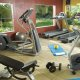 PreCor® equipped fitness center including cardio equipment, hand weights, water and towel service.