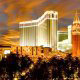 Gorgeous Night View at The Venetian Resort Hotel and Casino in Las Vegas, Nevada.