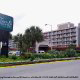 Front of the building at the Westgate Myrtle Beach Oceanfront Resort on a timeshare vacation.