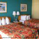 Double queen beds in one of our deluxe rooms at the Westgate Myrtle Beach Oceanfront Resort on a timeshare vacation.
