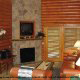 A living room in one of the cabins at the Westgate Smoky Mountain Resort.