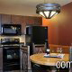 Kitchen and dining room at the Wilderness Stone Hill Lodge in Pigeon Forge Tennessee.