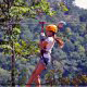 Riding with confidence at zipline adventures in Pigeon Forge Tennessee.