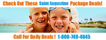 St Augustine, Florida vacation travel, deals, specials, discounts and packages by rooms101.com!