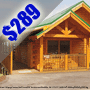 $289 ( All Inclusive ) | 4 Day 3 Nights | Pigeon Forge Cheap Vacation | 1 Or 2 Bedroom Cabin |  Smoky Mountains | Eagles Ridge