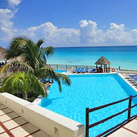 $399 | Bellevue Beach Paradise Hotel | Christmas Cancun Vacation | Standard/Deluxe Hotel Room | 5 day 4 night | $50 Dining Dough