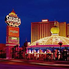$199 | Sahara Hotel and Casino | Memorial Day Las Vegas Vacation | Deluxe Hotel Room | 4 day 3 night | $50 Dining Dough