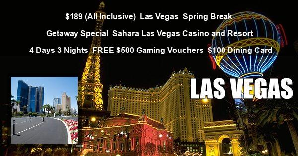 $189 ( All Inclusive ) | Las Vegas | Spring Break Getaway Special | SLS Las Vegas Casino and Resort | 4 Days 3 Nights | FREE $500 Gaming Vouchers | $100 Dining Card