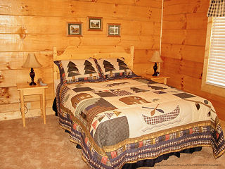 bedroom in cabin 856 eagles pointe in pigeon forge tennessee
