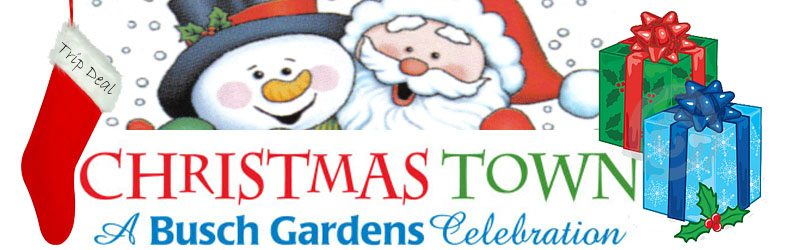 Williamsburg Virginia Bush Gardens Christmas Town Tickets